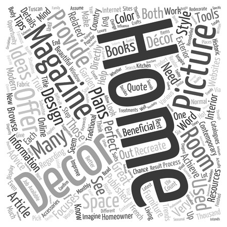 Home Décor Word Collage