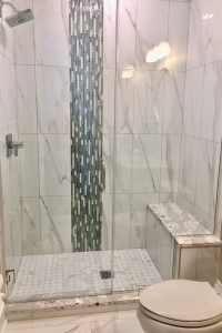 Bathroom With a Shower by Interior Designer in St. Catharines
