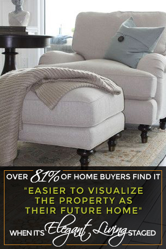 Staging by Elegant Living Decorating to Sell a Home