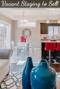 Dining Room and Kitchen Staging to Sell a Vacant New Home