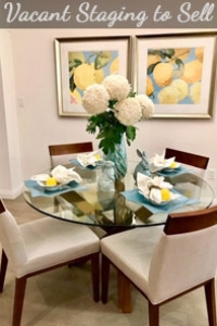 Dining Room Staging to Sell a Vacant New Home