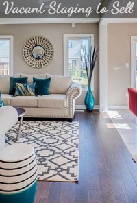 Living Room Staging to Sell a Vacant New Home
