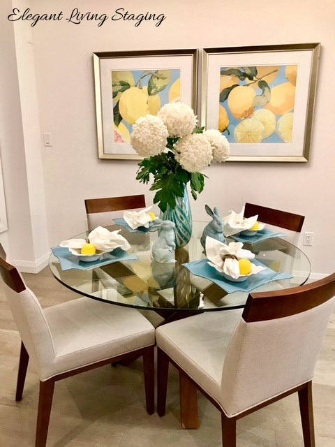 Dining Room Table in Spring